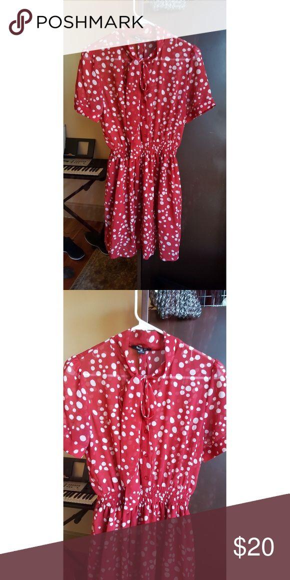 Vintage polka dot dress Red and white polka dot dress Modcloth Dresses