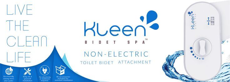 "You will always feel squeeky ""Kleen"" when using the Kleen Bidet Spa™. Will fit virtually any 2-piece toilet. #bidet #hygiene #health #bathroom"
