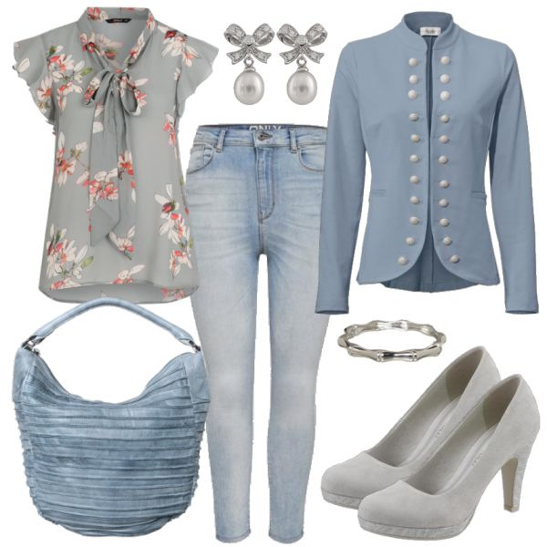 Schicker Look für den Frühling bei FrauenOutfits.de #mode #modeblog #frauen #frühling #trendfarbe #blau #fashion #outfits #frauenoutfits #damen #bekleidung #only – Linda Berge
