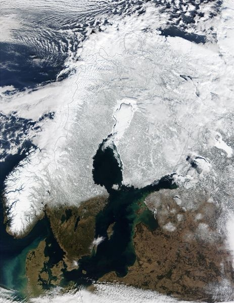 Skandinavia avaruudesta