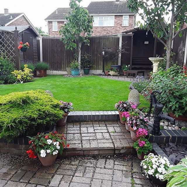 Garden of the day! Thanks Valerie Norman for sending me this lovely photo of your garden. The lawn is a lush green & the borders look fab! #gardening #garden #gardenoftheday