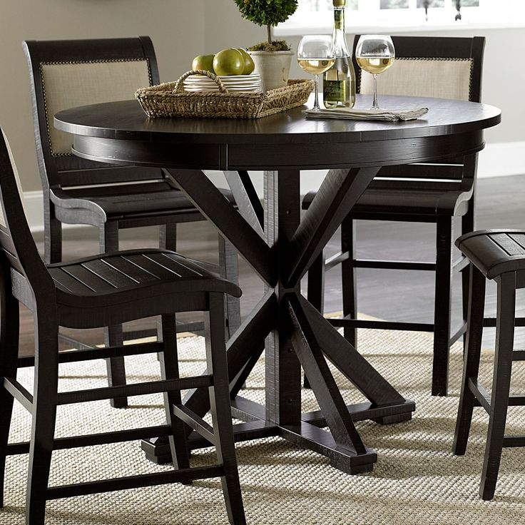 Progressive Furniture Willow Round Counter Height Dining Table    P808 15B/15T
