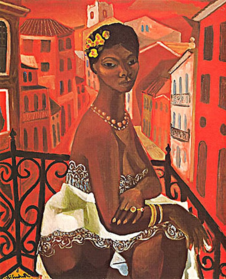 Mulata em Rua Vermelha, 1960 (óleo sobre tela), Emiliano Augusto Cavalcanti de Albuquerque Melo (September 6, 1897 – October 26, 1976), known as Di Cavalcanti, was a Brazilian painter who sought to produce a form of Brazilian art free of any noticeable European influences.