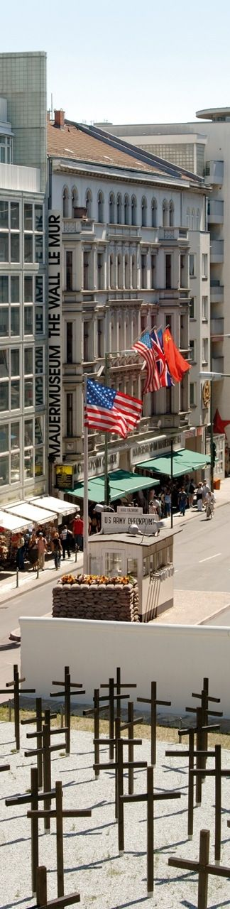 Mauer Museum and Checkpoint Charlie at Friedrichstraße 43-45 Repinned by www.gorara.com