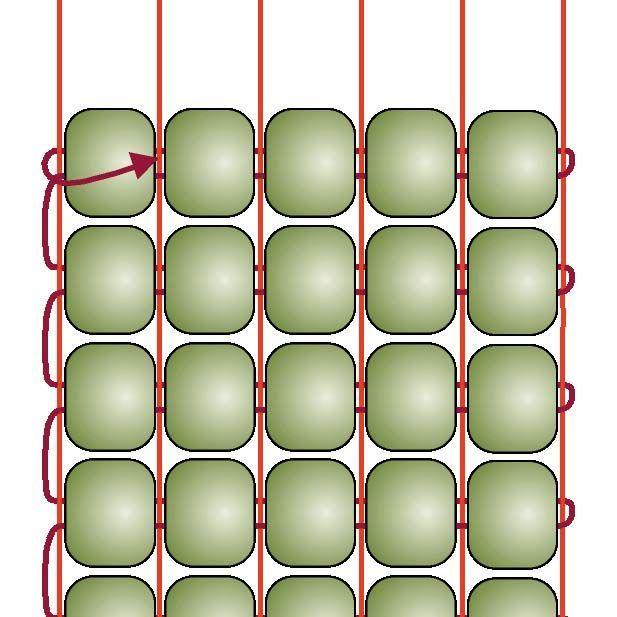 Basic Beading on a Loom: Step 7