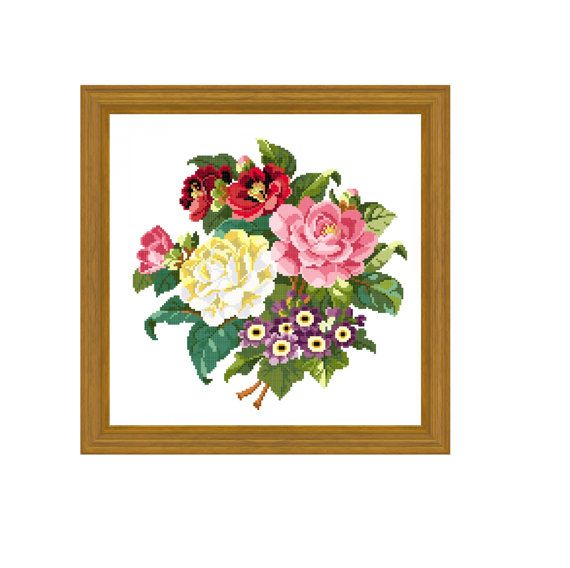Le bouquet charmant. Cross stitch pattern. Instant download. by rolanddesigns