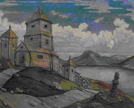 Н.К.Рерих. Эскиз декораций (Н.К.Рерих?). 1912