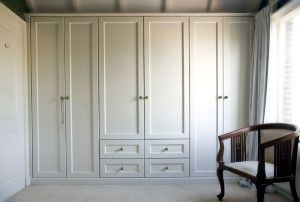 Painted wardrobes in your master bed.... May look similar to this