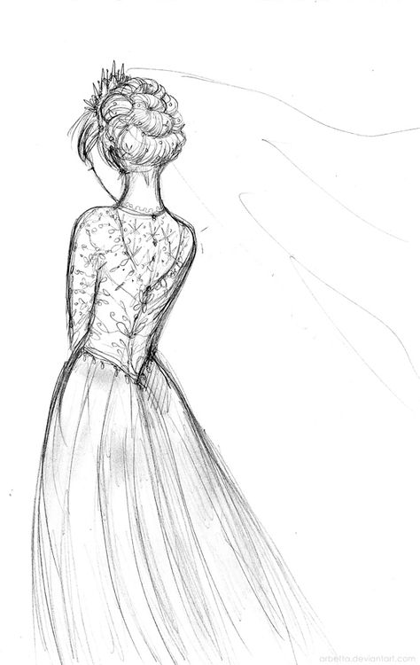Suddenly I decided Elsa should have a wedding dress ...
