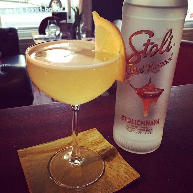 Try our new Stoli salted caramel vodka sour ! On our 5 for 5 tonight #eatateno www.eno.ie  #cocktail #5for25 #FridayTreat