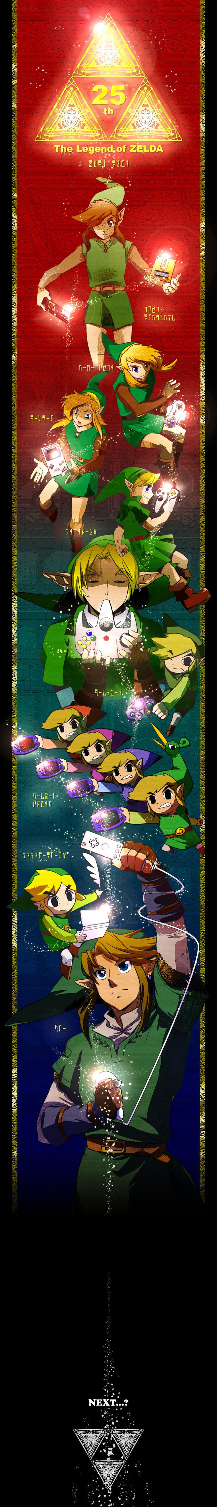 Zelda 25th Anniversary ♥ I remember watching my dad play the 1st one, waiting until I was old enough to play. I never looked back!!
