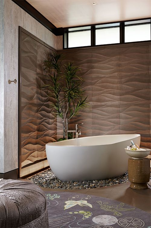 Picture Collection Website Beautiful tub and textured walls Asian Inspired Home by Mary Washer Designs