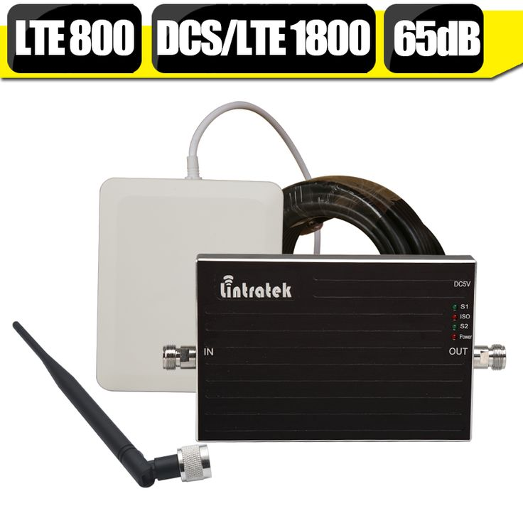 Lintratek 4G LTE 800mhz LTE 1800mhz Dual Band Signal Booster B20 B3 GSM Repeater DCS 1800mhz Amplifier Outside  Inside Antenna #Affiliate