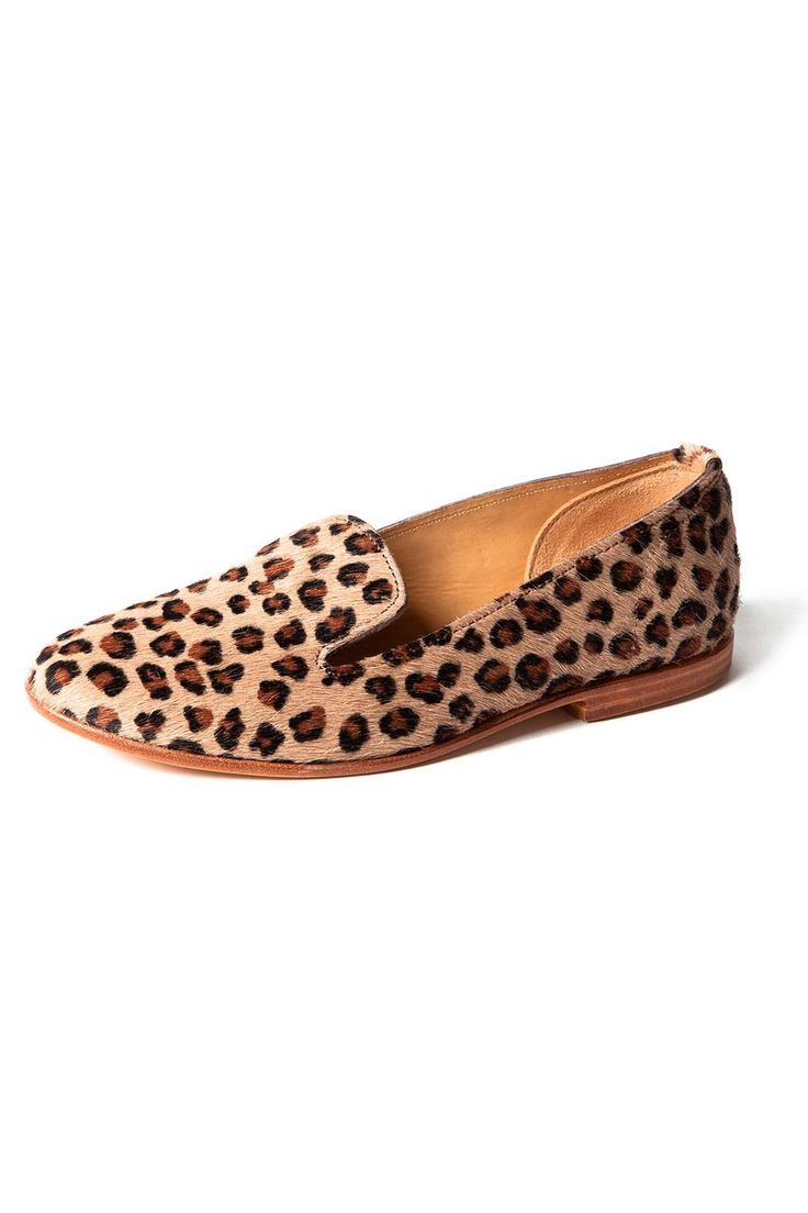 Chique loafers in pony hair with leopard print. Made by hand in the South of France by award winning artisans. Runs half a size smaller. Looks really cool with jeans, but also with bare legs or tights. Universal loafer to dress up any outfit!   Leopard Loafers by La Botte Gardiane by Bottines. Shoes - Flats Netherlands