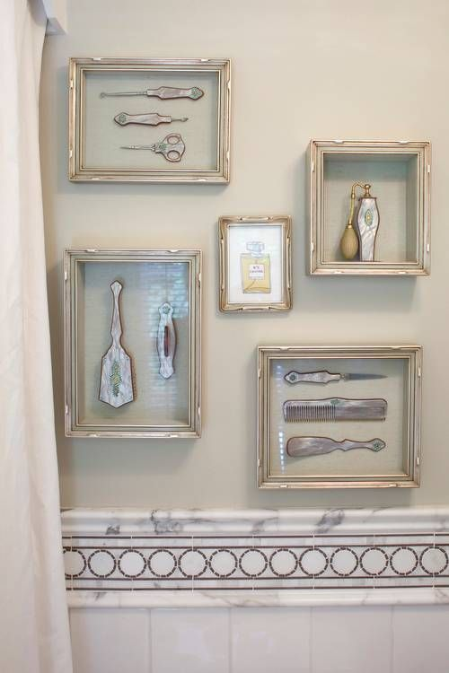 28 things you didn 39 t know you could frame gallery wall for Bathroom design vintage