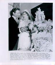 Vintage 1951 TARZAN Actor Lex Barker & New Bride Arlene Dahl Photo
