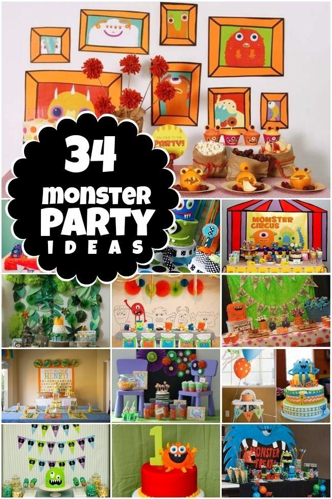 Monster Birthday Party Ideas www.spaceshipsandlaserbeams.com