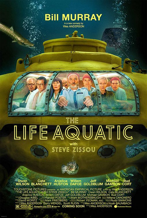 a Wes Anderson film. The Life Aquatic with Steve Zissou (2004) - With a plan to exact revenge on a mythical shark that killed his partner, oceanographer Steve Zissou rallies a crew that includes his estranged wife, a journalist, and a man who may or may not be his son.