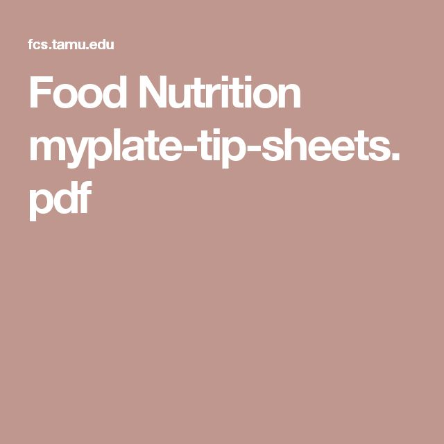 Food Nutrition myplate-tip-sheets.pdf