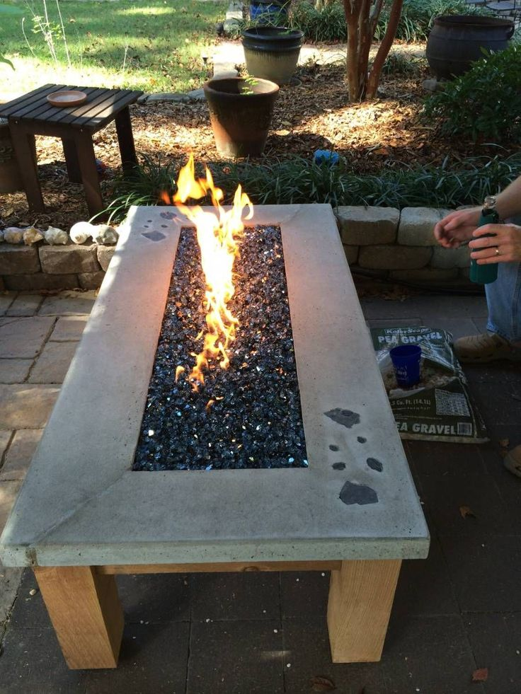 build your own gas fire table