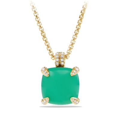 Chatelaine Pendant Necklace with Diamonds in 18K Gold