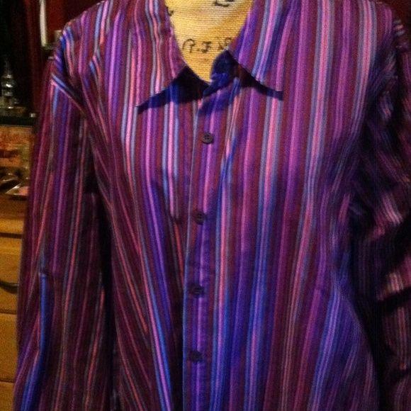 Big shirt cotton polyester 30' long roamans Tops Blouses