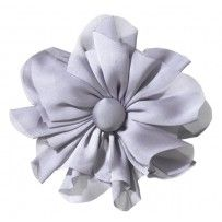 Haarspeld bloem Julia french clip zilver