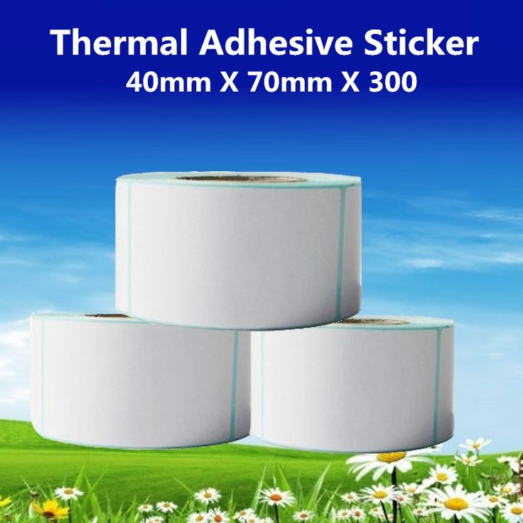 40*70*300pcs per roll Thermal Label Adhesive Stickers 40mm X 70mm Thermal Sensitive Adhesive Sticker Barcode Printer Labels