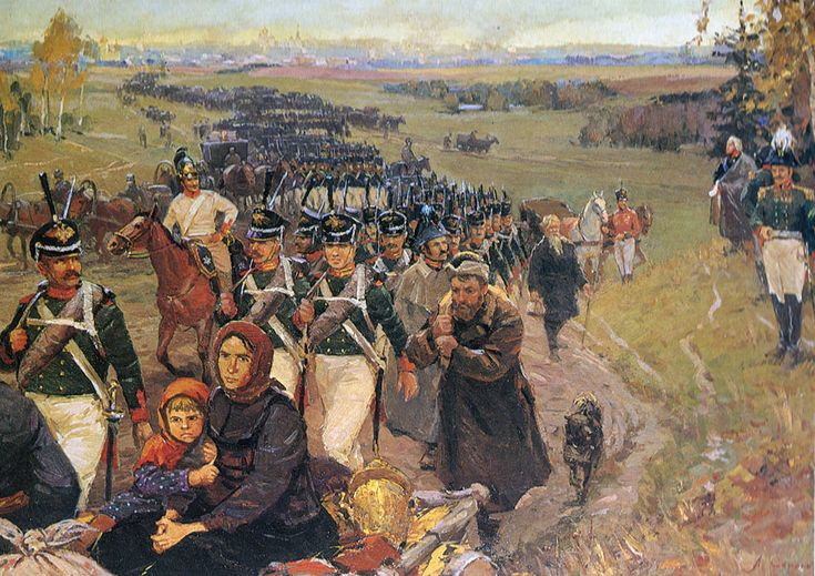 Russian army and the people left Moscow 14 September 1812 ...