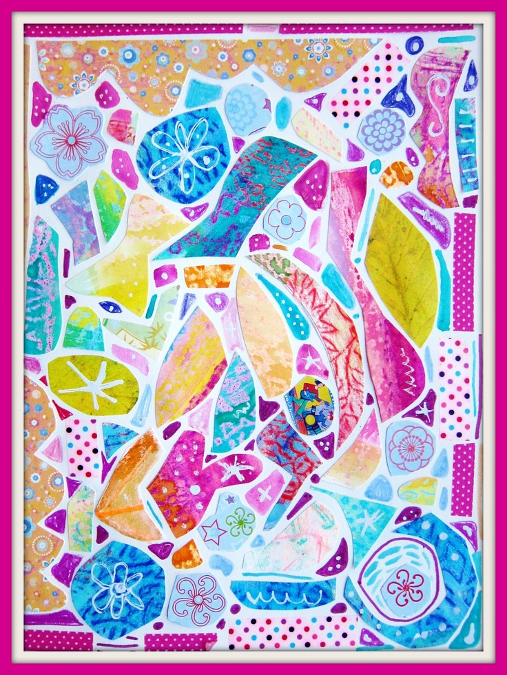 Dabblings: Painted Paper Mosaic Tutorial