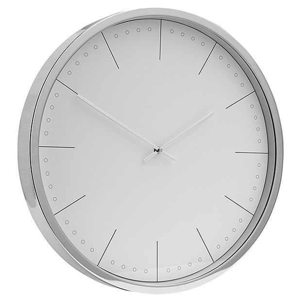 Lisa T Rock Couture Silver Clock