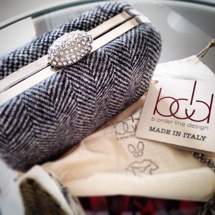 b-old clutch prototype #00 patchworck tweed handmade vintage fabrics from vintage jacket made in italy