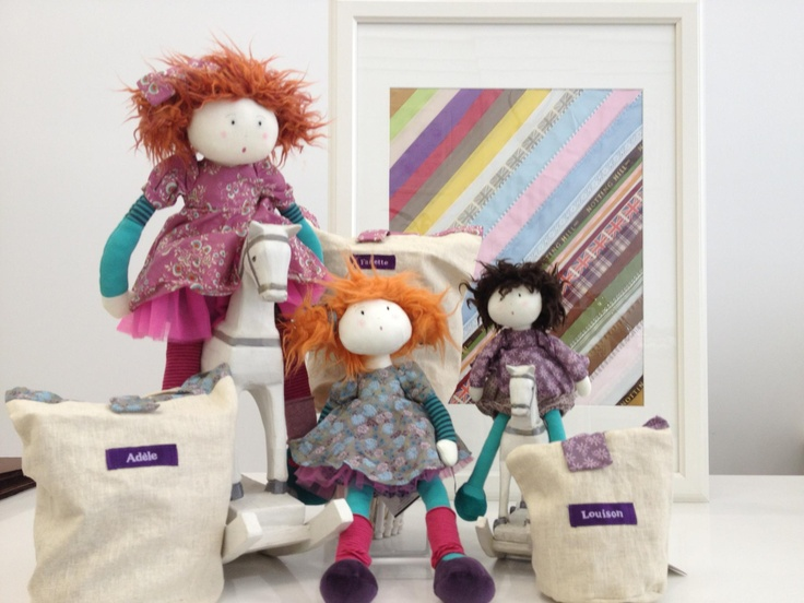 Moulin Roty Dolls (pictured are Adele, Fannete and Louison). Enter to win a $300 #NottingHill gift card theprov.in/notting contest #contest