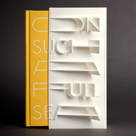 """""""First 3D-printed book cover"""" created with a MakerBot"""