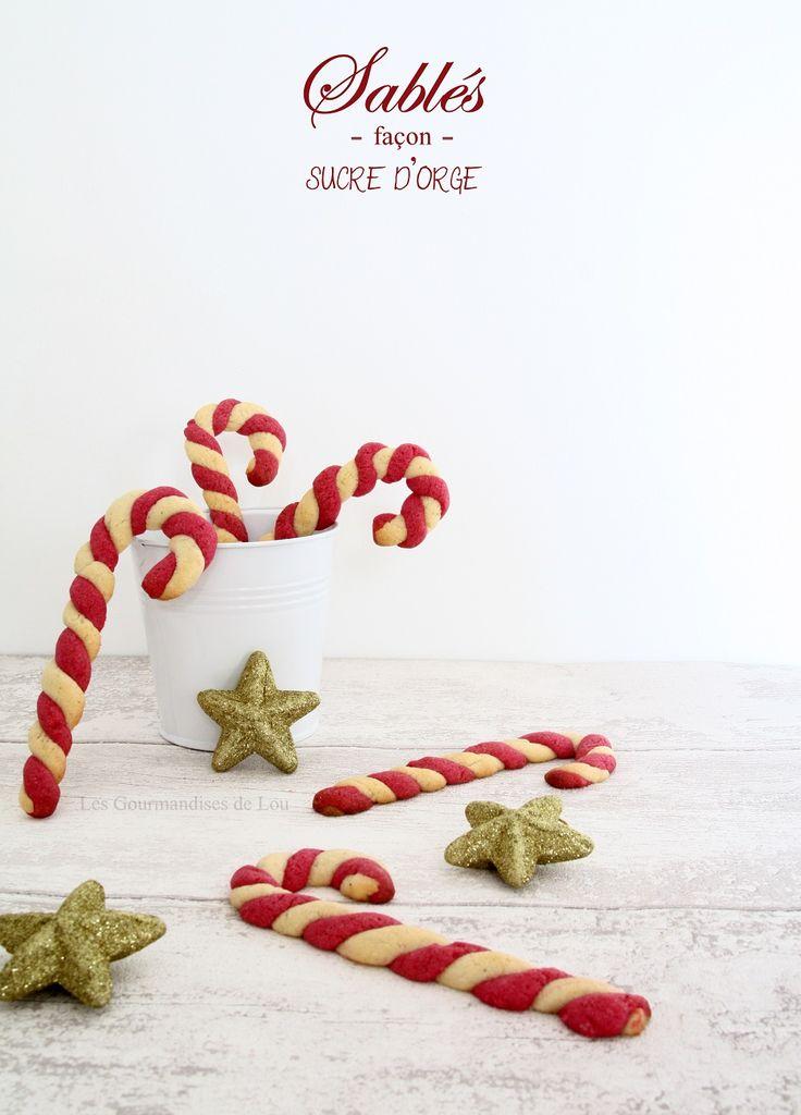 Sablés façon sucre d'orge ~ Candy Cane Cookies