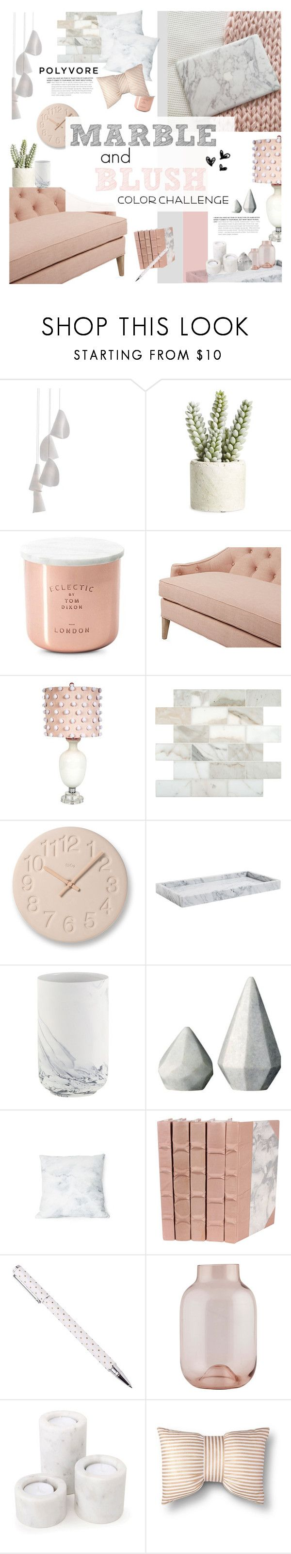 """""""Perfect Pair; Marble & Blush"""" by happilyjynxed ❤ liked on Polyvore featuring interior, interiors, interior design, home, home decor, interior decorating, Bocci, Allstate Floral, Tom Dixon and Dana Gibson"""