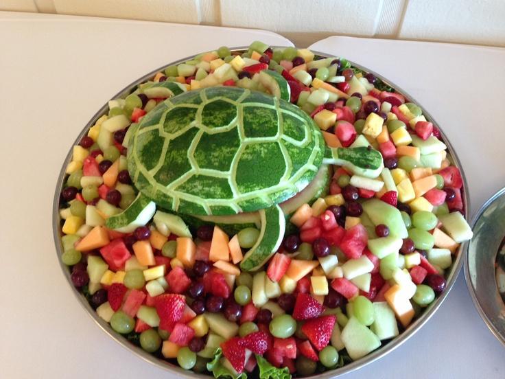 Turtle watermelon platter! Adorable