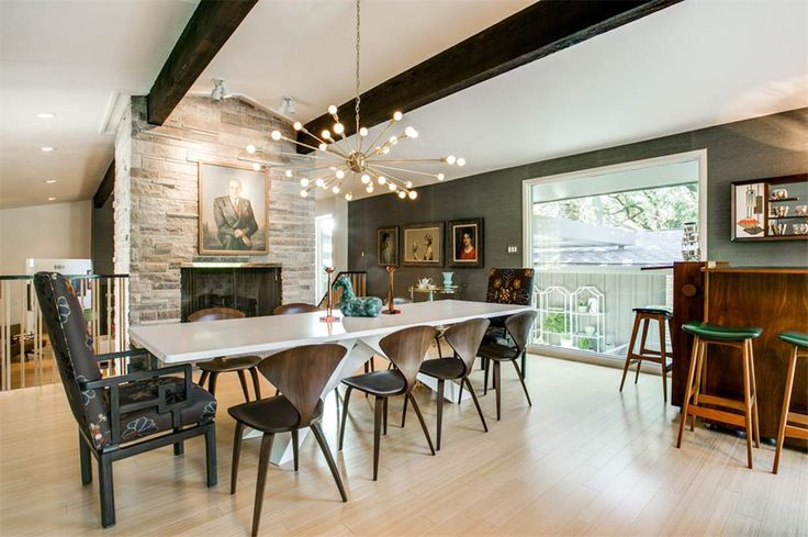 Eclectic Mid Century In Dallas. Atomic DecorModern Dining RoomsDallas ...