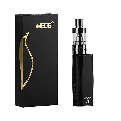 IMECIG� V2 E Zigaretten Starterset, Mod Box Mini E-Zigarette/E Shisha Set ,0.2ohm 10-50W, einfache Bedienung, handlich, super Preis-Leistungsverh�ltnis,ohne Nikotin?Schwarz