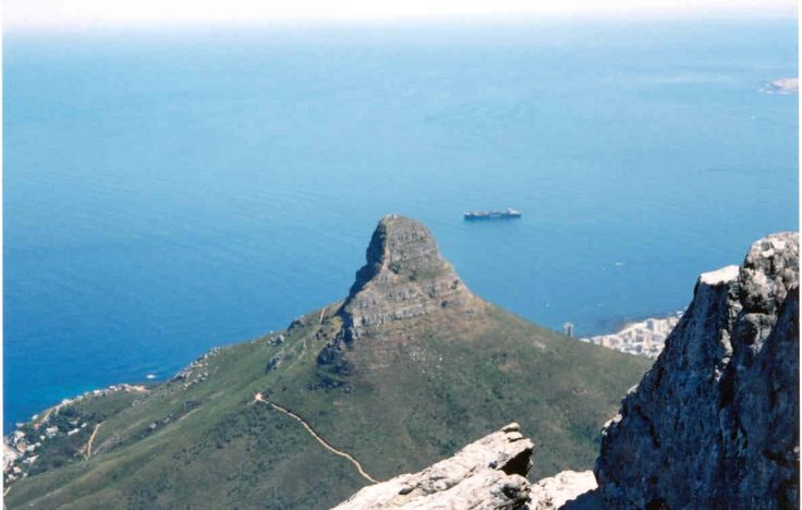 Lion's Head from Table Mountain,Capetown,South Africa