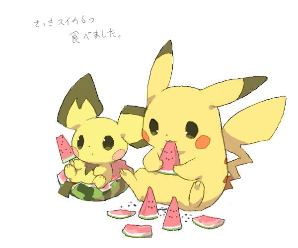 PikaYum. Pichu, Pikachu (by ベルちぁん, drawr)