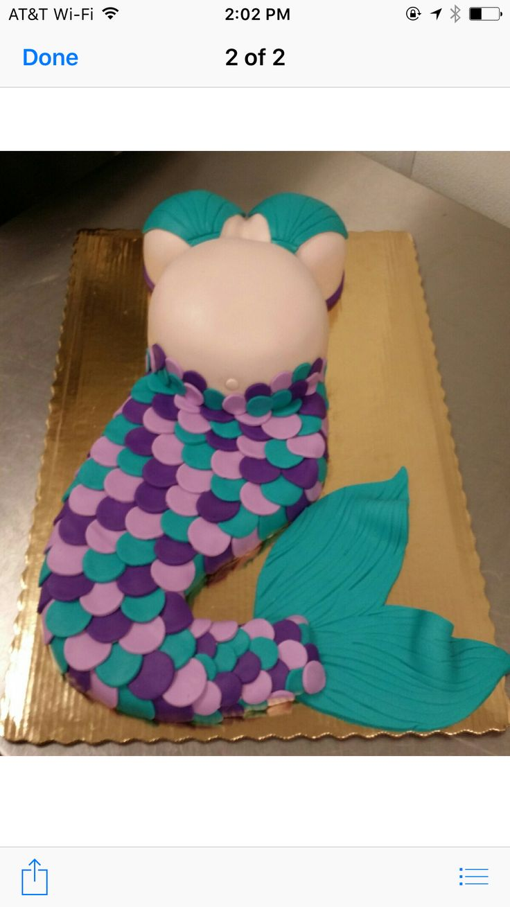 Mermaid baby shower cake. (Made by Publix!)