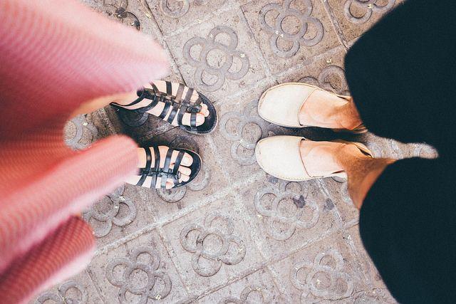 ▲ photo: marie thorsen. #barcelona #spain #catalonia #love #feet #shoe #flower #design #travel #summer