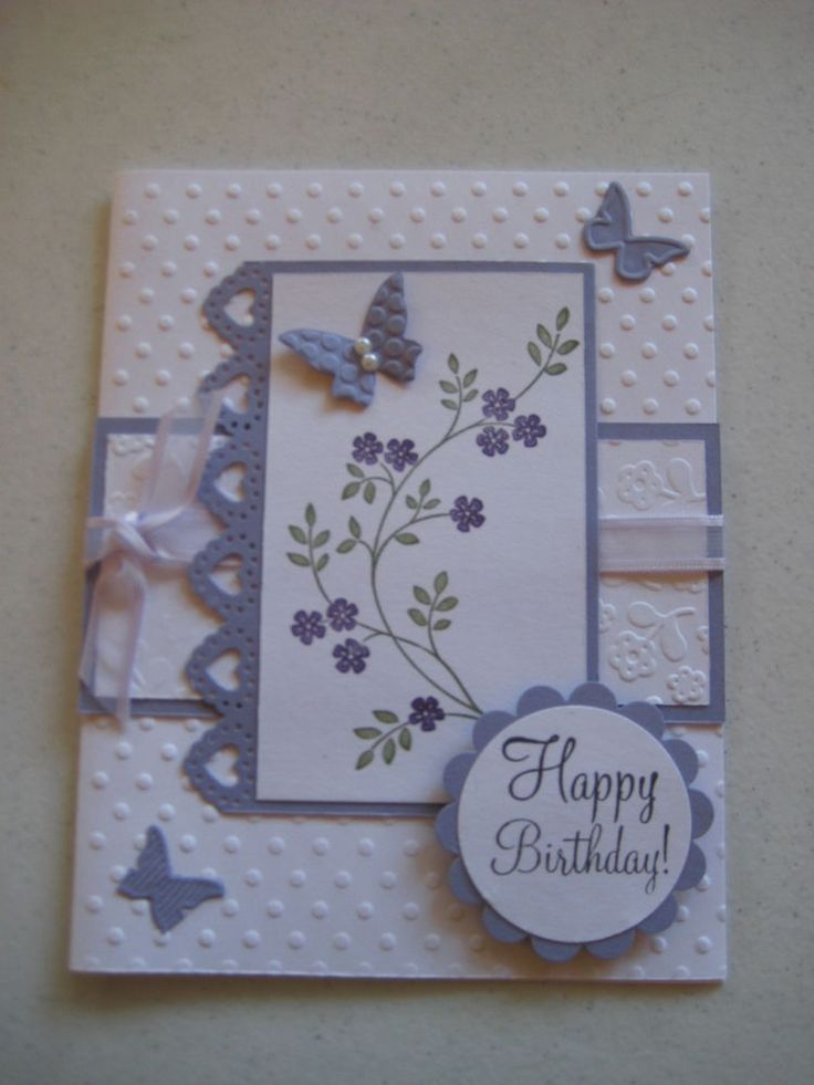 #1 Butterfly Birthday card kit made with stampin up with envelopes in   eBay