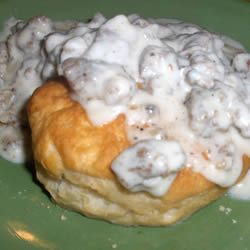 Sausage Gravy--this recipe is truly the best, and has the most authentic Southern flavors of all sausage gravy recipes I've found!