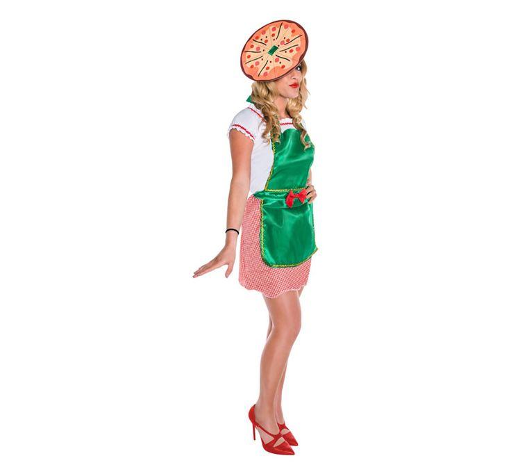 disfraz de pizzera para mujer adulto este ideal para ser las mejor cocinera