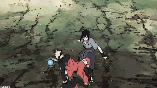 anime - naruto shippuden - sasuke vs naruto - the final battle - gif
