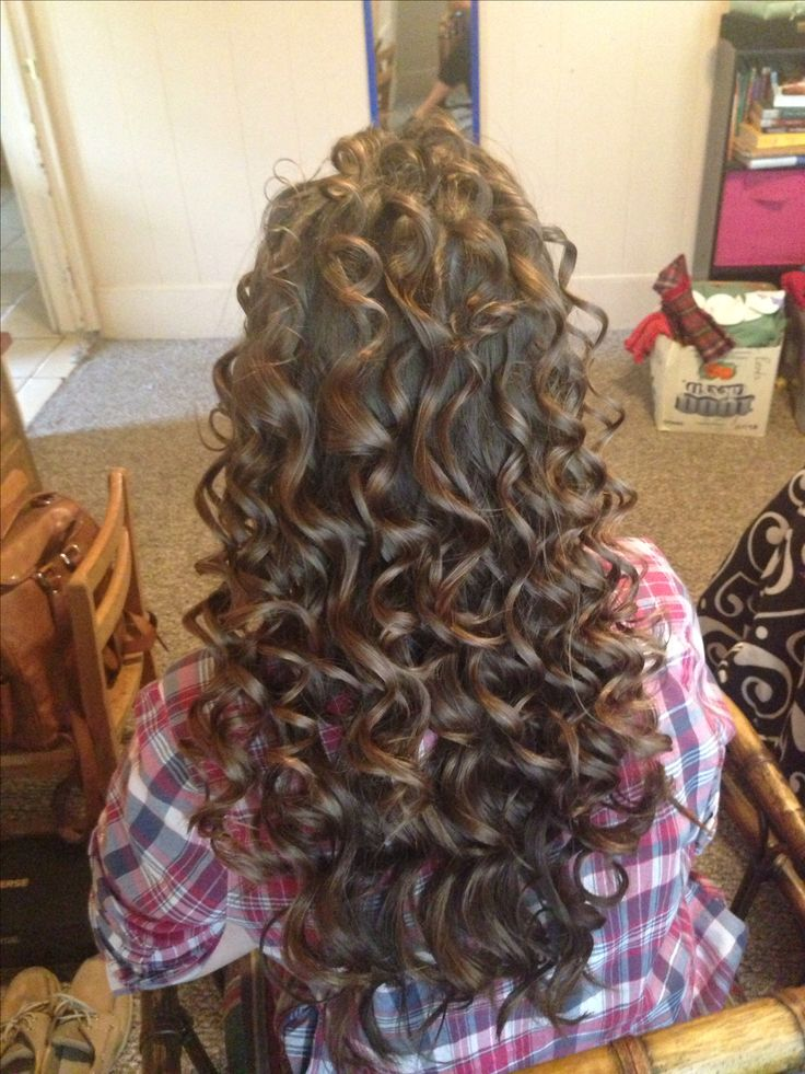 Wand curls. Lovee tight spiral curls on long hair..so pretty!