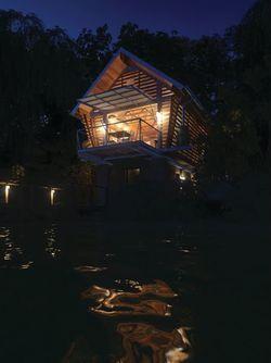 tiny boat house