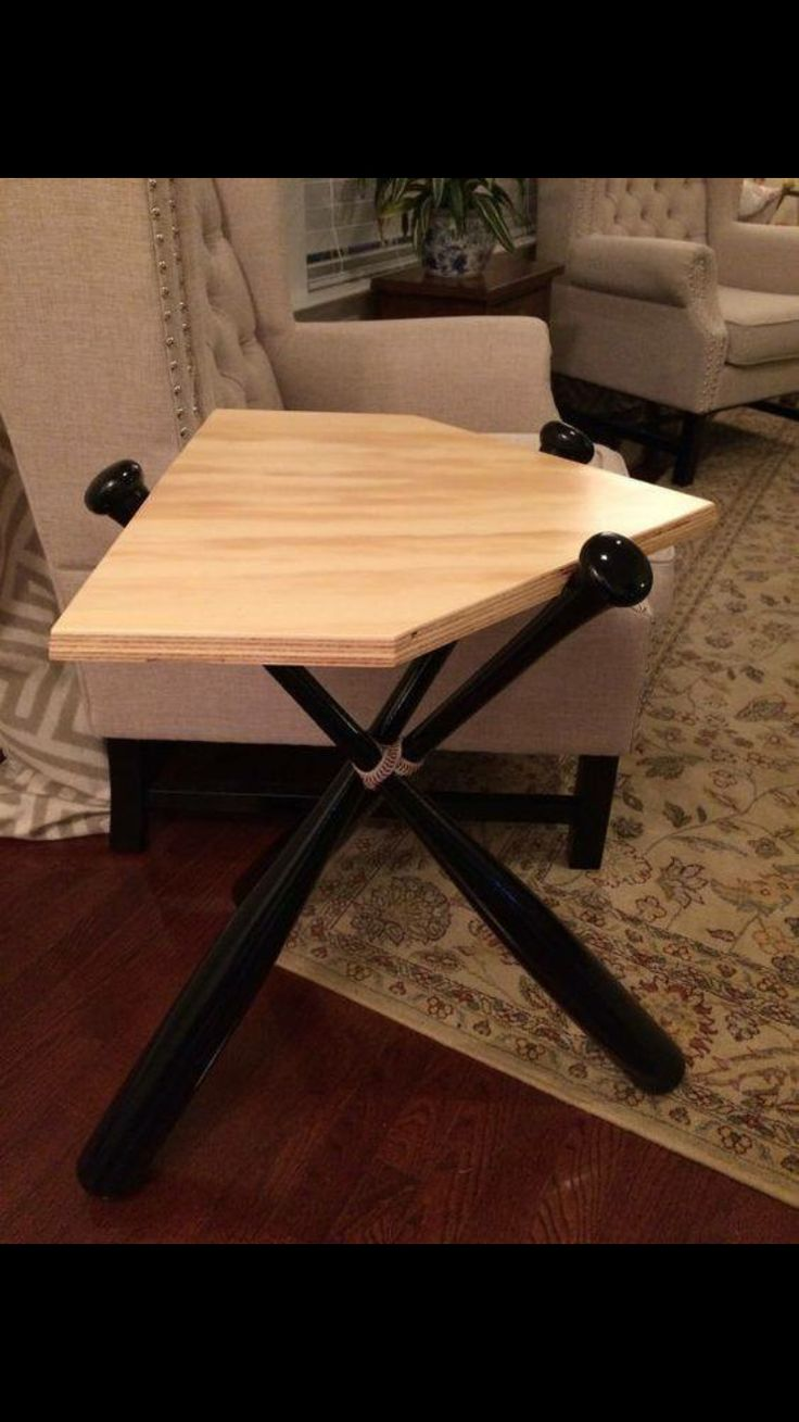 DIY baseball table